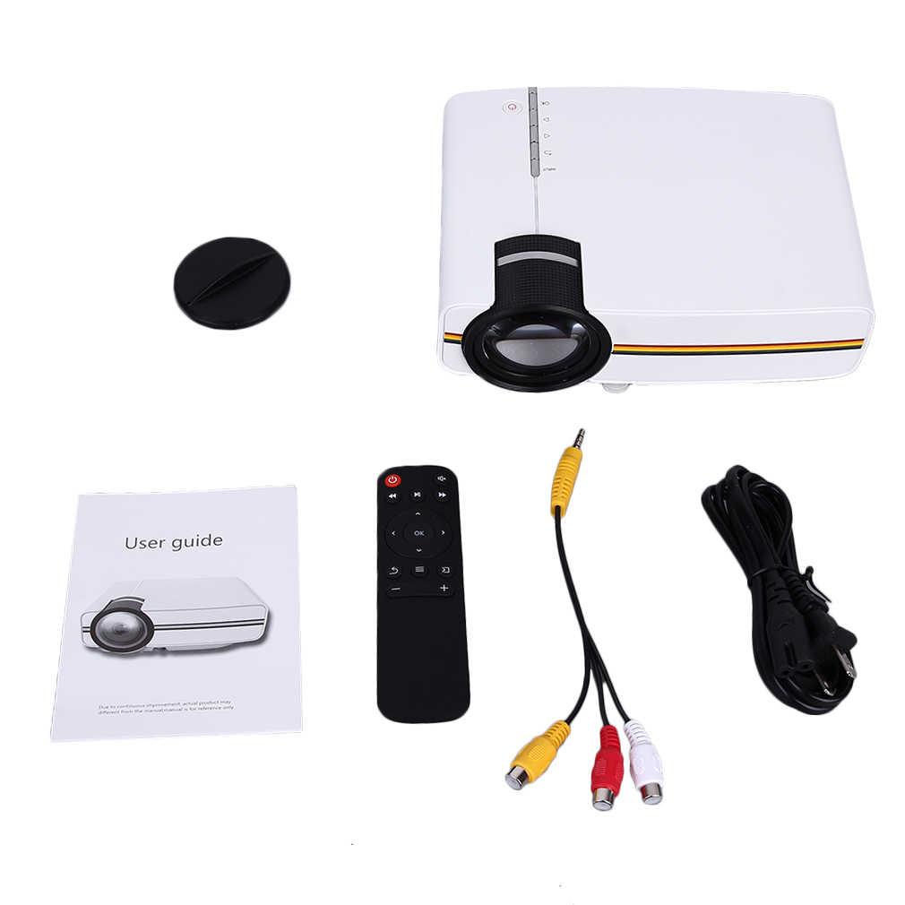 Профессиональный YG400 1200 лм HD светодиодный видеопроектор домашний кинотеатр 3D эффект 1080P-HDMI мультимедийный плеер цифровой проектор