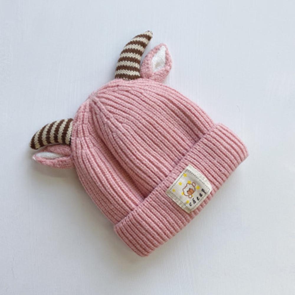 Осень и зима Корейская версия, милые вязаные свитера на хлопковой подкладке теплая шапка для младенца детская одежда из шерсти и Кепки Детский Рождественский подарок Кепки s - Цвет: 4