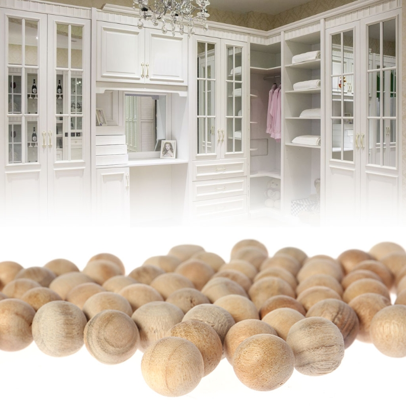 100 шт. натуральный шарики из кедрового дерева от моли камфора от комаров шкаф для одежды с выдвижными ящиками