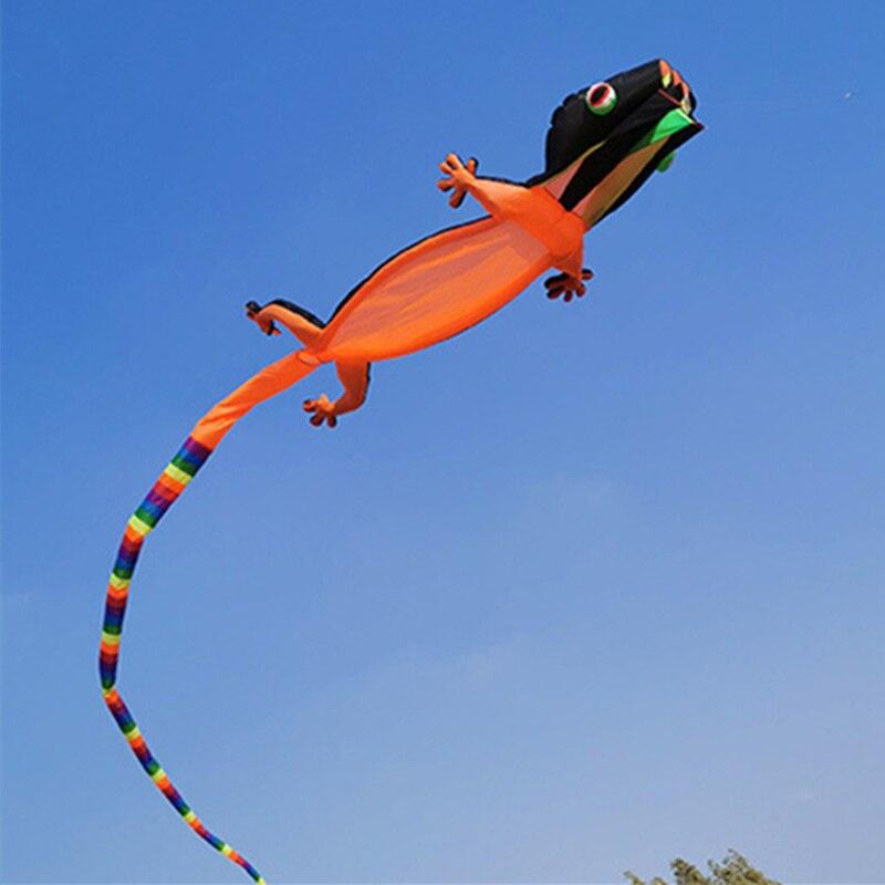 12m nouveau lézard Gecko cerf-volant doux gonflable cerf-volant couleur Animal cerf-volant Sports de plein air jouet volant haute qualité adulte ligne unique cerf-volant