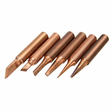 for Soldering Station Pure Red Copper Diamagnetic 900M-T 936 Solder Iron Tips Lead-Free Lower Temperature Soldering Welding Tool