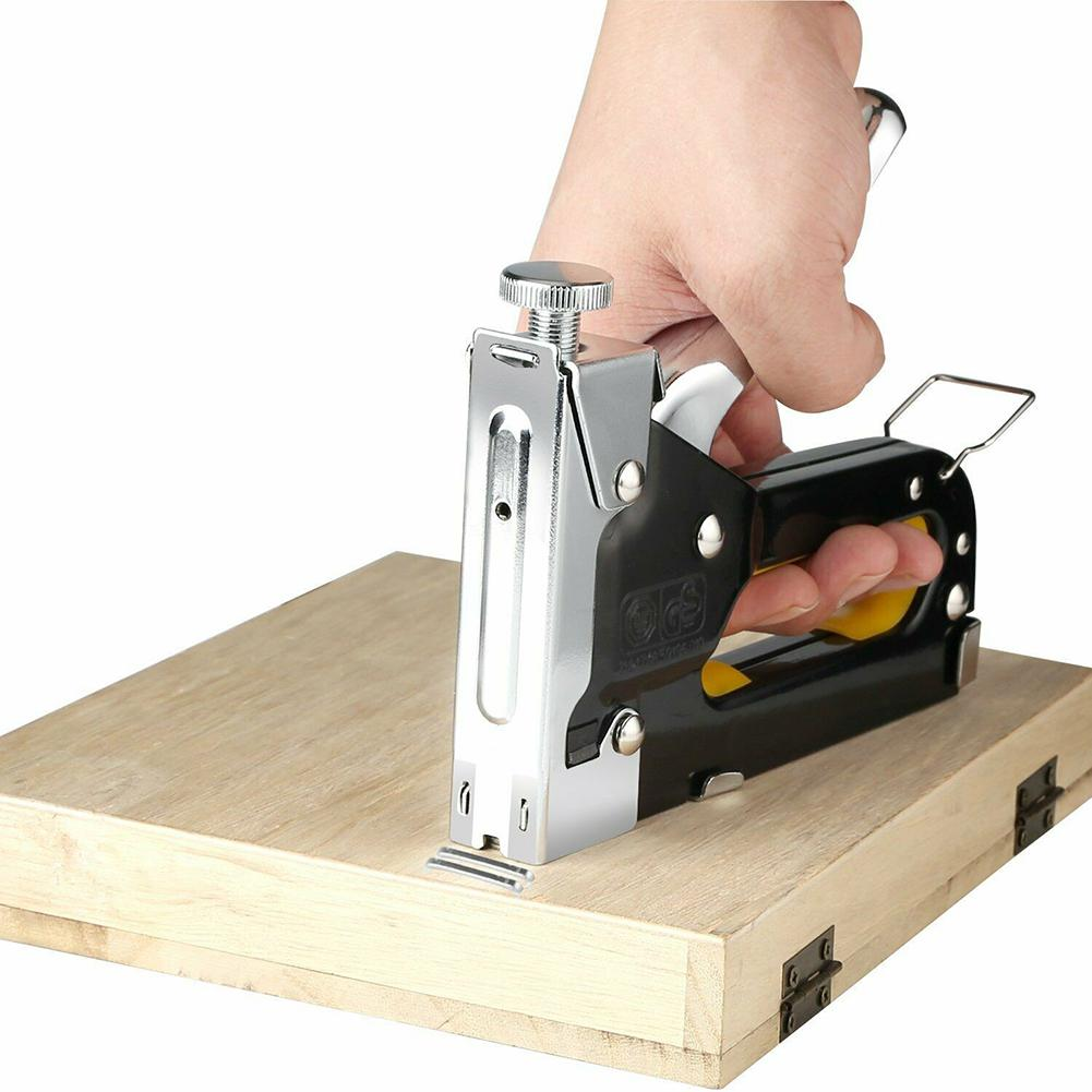 Hand Nail Gun Furniture Stapler For Framing Paper Window With 600pc Staples Woodworking Tacker Tools