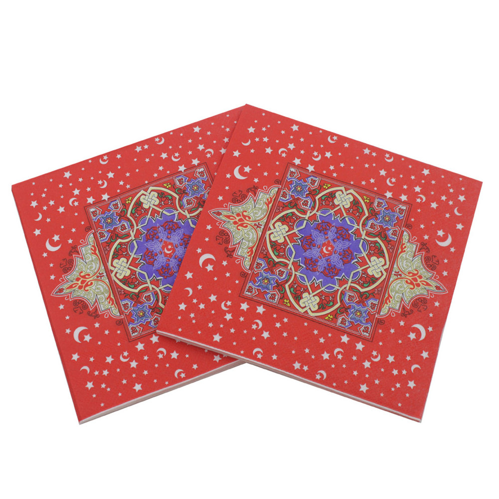 [Currently Available] Muslim Ramadan Napkin Printed Kleenex Lesser Bairam Decorations Paper Islam
