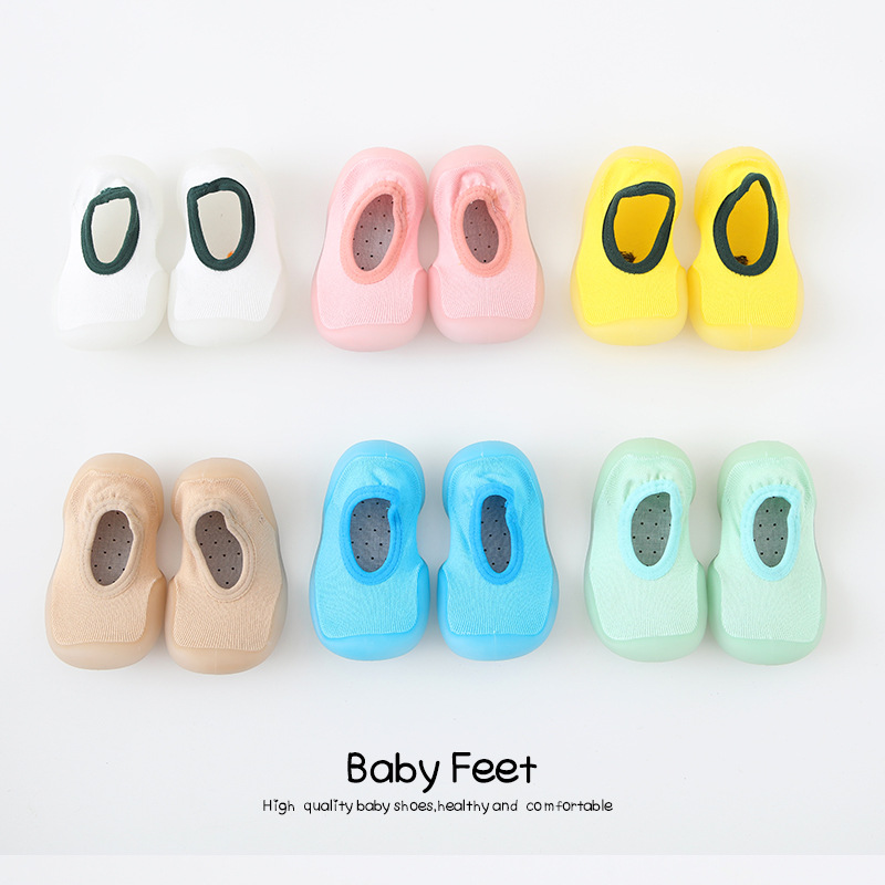 Baby Autumn Shoes Kid Boy Girl Macarons Cotton Cloth First Walker Anti-slip Soft Sole Toddler Sneaker Ankle Sock