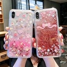 Dynamic Liquid Glitter Phone Case For iPhone 11 Pro SE XR XS MAX X 6 7 8 Plus Cute Sailor Moon Magic Stick Quicksand Soft Cover liquid water case for iphone 11 pro max se 2020 dynamic quicksand glitter bling soft tpu case for iphone 6 7 8 plus xs xr cover
