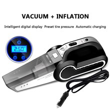 Buy New High Power Car Vacuum Cleaner 120W 4500Pa Four-in-one Multi-purpose Electric Air Pump Digital Tire Inflator For car directly from merchant!