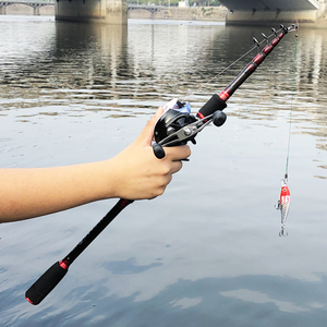 Image 3 - 1.8m 2.7m power squid bait casting fishing rod carbon retratable spinning rod ultralight travel stick telescopic