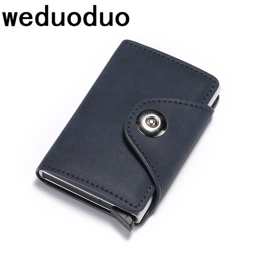 New PU Leather RFID Blocking Card Holder Mens Smart Business Wallet Big Bank Creditcard Holder Pocket Case Protector
