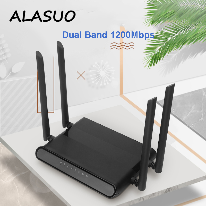 Portable 1200Mbps Gigabit Wifi Router Dual Band 5ghz RJ45 Ethernet 802.11 AC Wireless Home Router Access Point VPN PPTP L2TP