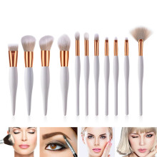1/11pcs Women Cosmetic Brushes Wooden Handle Soft Nylon Hairs Makeup Tool MH88