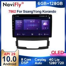 Radio Multimedia con GPS para coche, Radio con reproductor de vídeo, estéreo para coche SsangYong Korando, 6 + 128G, DSP, Android 10, 2010, 2011, 2012, 2013, 2 din, dvd