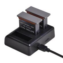 Тройное Зарядное устройство USB с портом type C для DJI Osmo Action S port s camera AB1 battery