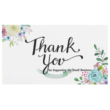 10-50pcs Flower Thank You For Supporting My Small Business Card ,2x3.5 inch Thank You Cards For Bakeries, Handmade Goods
