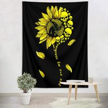 Creative Skull Sunflower Tapestry Wall Hanging Dorm Decor Polyester Hippie Tapestry Carpets Decorative Blanket Fabric Bed Sheet moonnight meteor fabric decorative wall tapestry