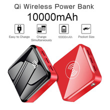 Power Bank 10000mAh Portable Fast Charger Quick Charge Qi Wi
