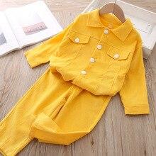 Комплекты для девочек осень г. Вельветовая детская одежда с рисунком