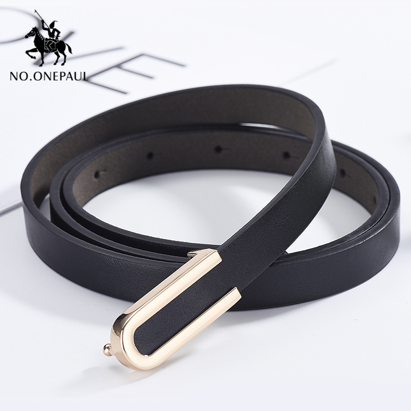 NO.ONEPAUL Women Belt Alloy Buckle Retro Ladies Thin Belts Wild Jumpsuit Body Figure Students Jeans Accessories Free Shipping