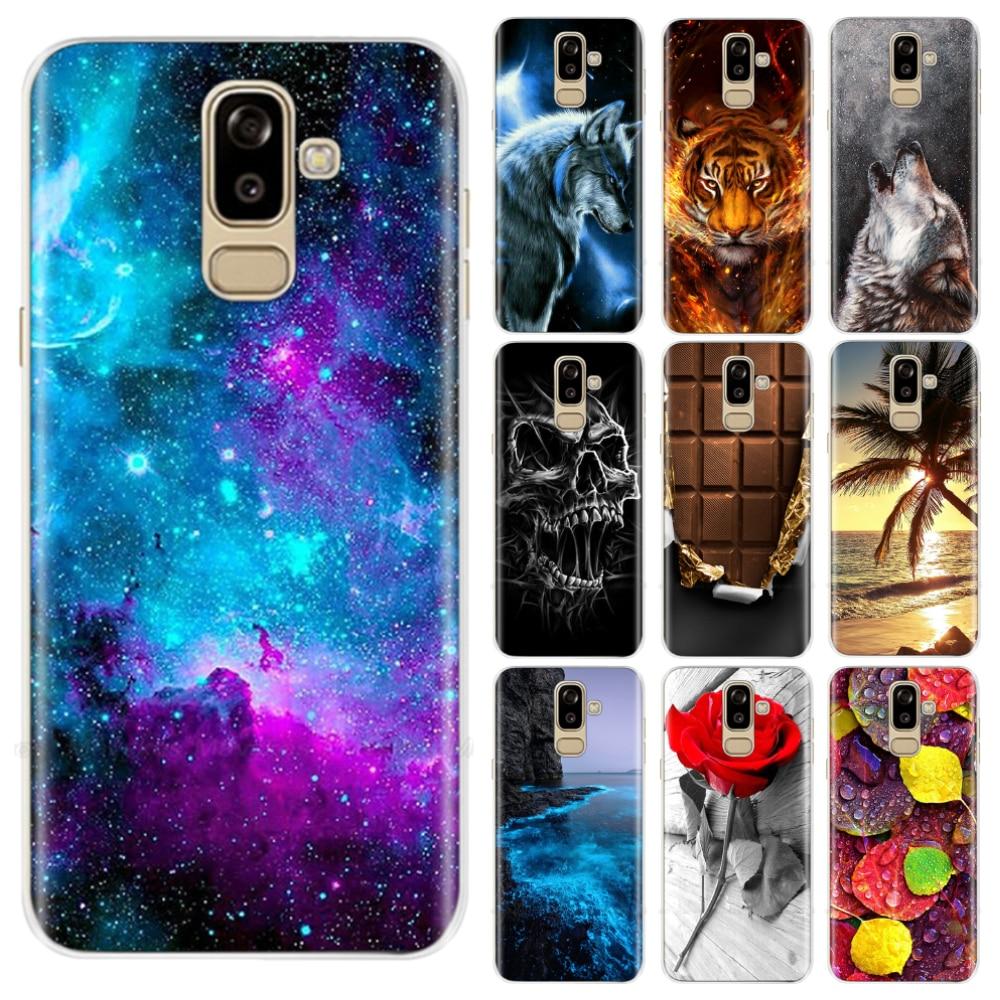 Чехол для Samsung Galaxy J8 2018, чехол j810 j810f, sm-j810f, силиконовый, мягкий, ТПУ, задняя крышка, чехол для Samsung J8 2018