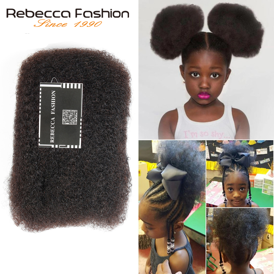 Rebecca Monogolian-pelo humano Afro rizado a granel para trenzar, 1 paquete de 50 g/unidad, Color Natural #2 #4 #30 # 99j