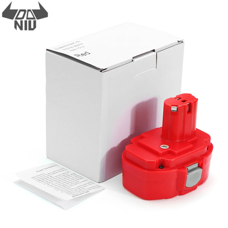DANIU MAK-18 18V NI-Cd 1.3/1.5/2.0ah Red Color Battery Power Tool Replacement Battery For Makita 1822 1823 1834 Replacements
