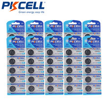 50pcs Аккумуляторы pkcell cr2032 3v литиевая батарея br2032