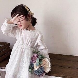 Image 4 - Para meninas vestidos de manga longa das crianças para meninas princesa vestidos de outono crianças designer vestidos de festa para o bebê meninas vestido branco