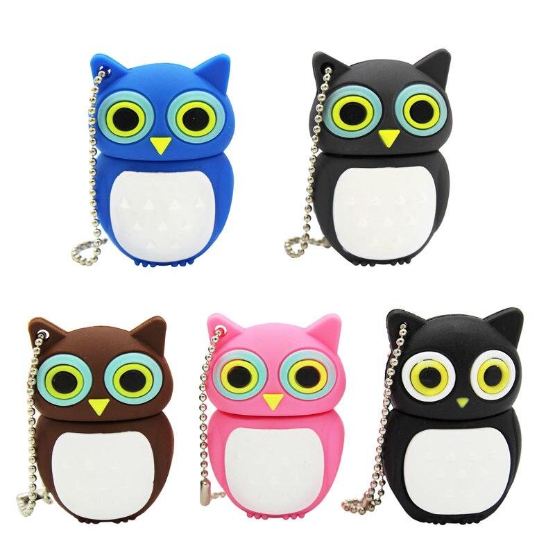 BiNFUL Cute Cartoon Animal Owl Pendrive 4GB 8GB 16GB 32GB  Stick USB Flash Drive