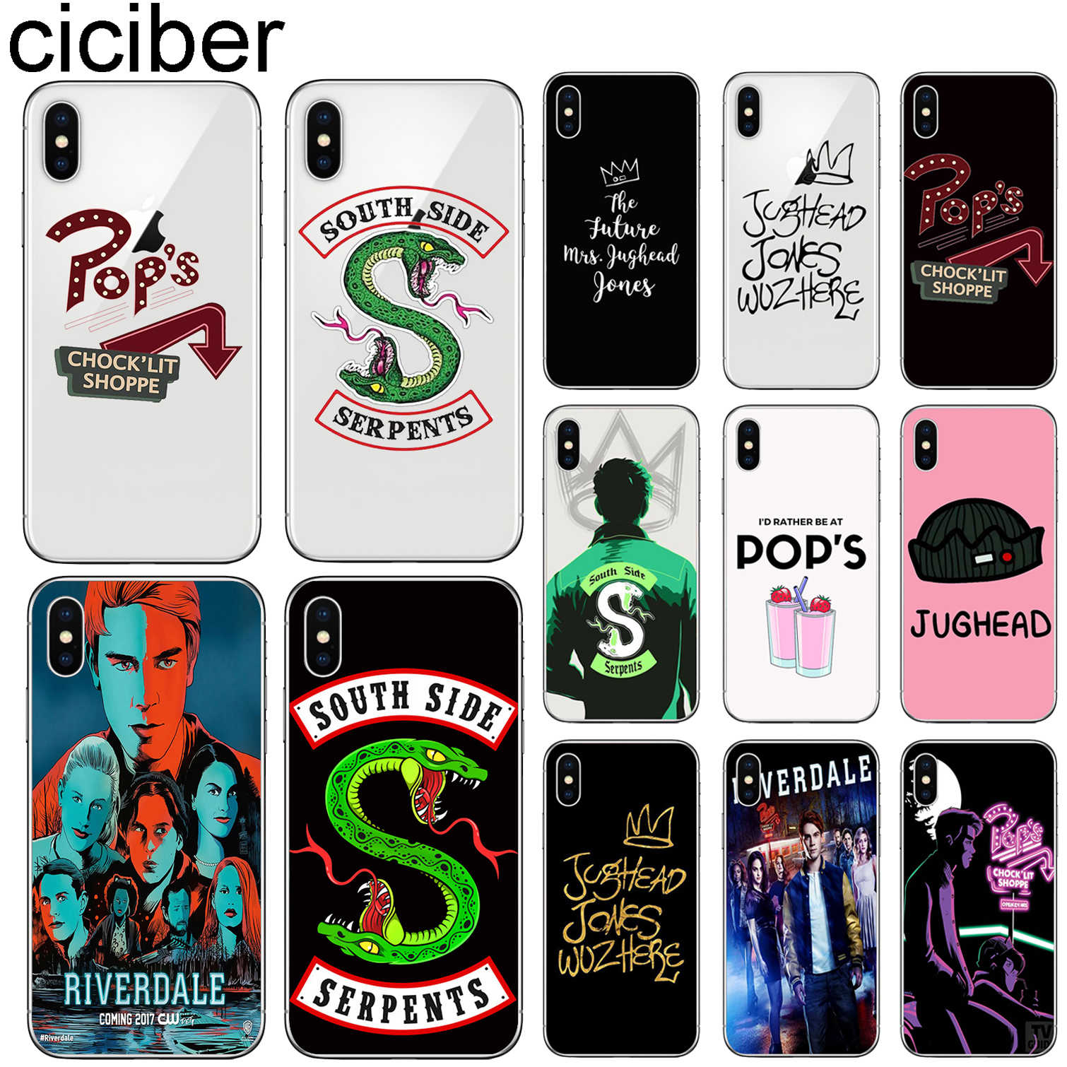 Ciciber Riverdale Case Voor Iphone 11 7 8 6 6S Plus 5S Se 2020 11 Pro Max Siliconen case Voor Iphone X Xr Xs Max Cover Funda Capa
