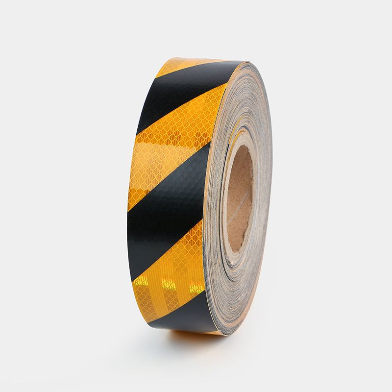 Yellow And Black Reflective Adhesive Tape Warning Reflective Stickers Yellow And Black Reflective Film Plant Warning Floor Visio
