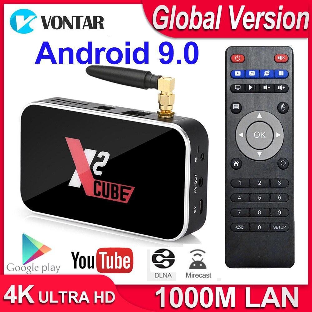 X2 Cube Android 9.0 TV Box décodeur intelligent S905X2 DDR4 RAM 2GB ROM 16GB 2.4G/5G Wifi 1000M Bluetooth 4.2 lecteur multimédia 4K HD