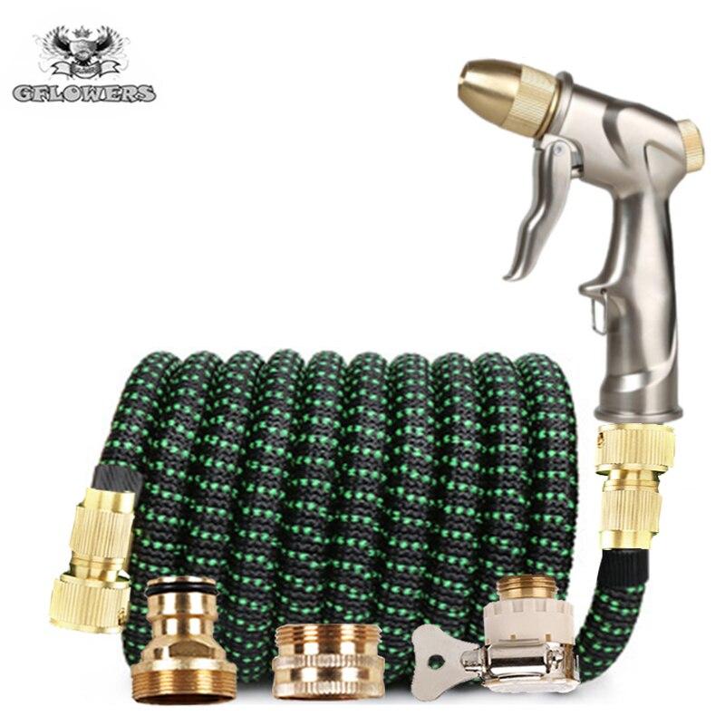 Marka wąż teleskopowy wąż ogrodowy pistolet naturalny lateks wysokociśnieniowy myjnia samochodowa rura termokurczliwa flexibele Tuinslang nawadnianie