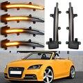 Для Audi TT Mk2 8J (ТТС) R8 2007-2014 сторона боковое зеркало светодиодный динамический мигалка последовательный сигнал поворота Индикатор 2008 2009 2010 TTRS