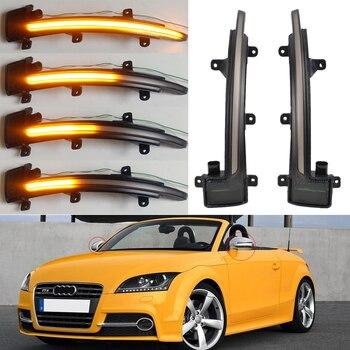 Para Audi TT Mk2 8J TTS R8 2007-2014, retrovisor lateral LED dinámico, intermitente, indicador de señal de giro secuencial 2008 2009 2010 TTRS