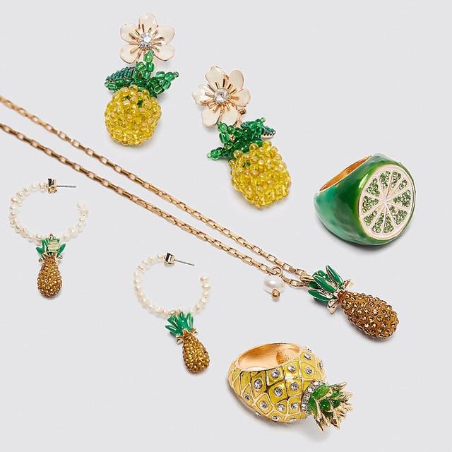 Vedawas nouveau Boho fruits plage femmes naturel conque coquille pierre collier boucles doreilles ensemble de bijoux fraise cerise collier boucles doreilles