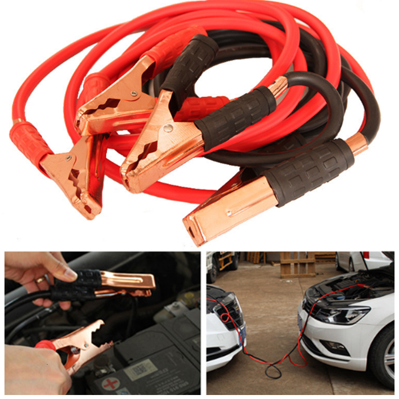 Car Battery Jumper Booster Cable Car Battery Line Car Replacement Emergency Fire Line Copper Wire 2.5M 500A Car Special Line