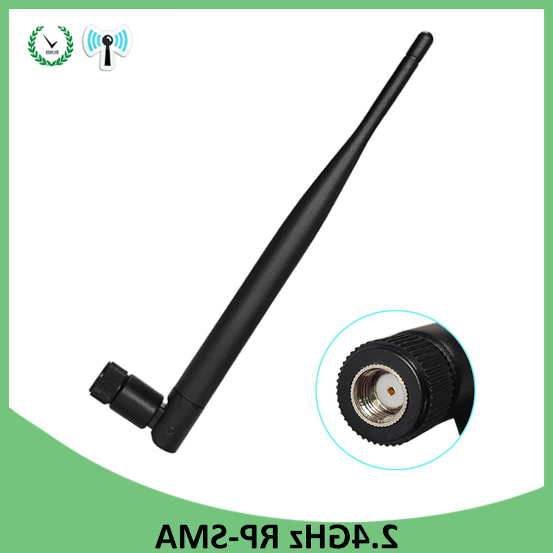 <font><b>2.4</b></font> <font><b>GHz</b></font> <font><b>WiFi</b></font> Antenna 5dBi Aerial RP-SMA Male Connector 2.4ghz <font><b>antena</b></font> wi fi antenne For PCI Card USB Wireless Router <font><b>Wifi</b></font> Booster image