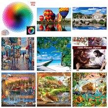 75*50cm quebra-cabeças 1000 peças de montagem imagem mar egeu paisagem quebra-cabeças brinquedos para adultos crianças jogos brinquedos educativos