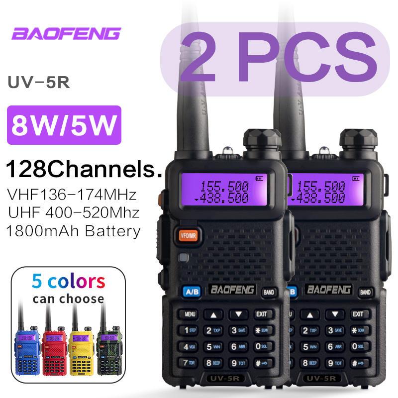 HAM Transceiver Intercom Talkie Radio-Station Dual-Band Comunicador UV-5R Handheld Baofeng