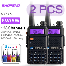 2 conjuntos baofeng uv 5r walkie talkie estação de rádio comunicador UV-5R ham transceptor interfone de banda dupla portátil talkie walkie uv5r