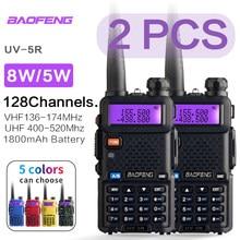 Baofeng uv 5r walkie talkie estação de rádio comunicador UV-5R ham transceptor de banda dupla interfone portátil talkie walkie uv5r