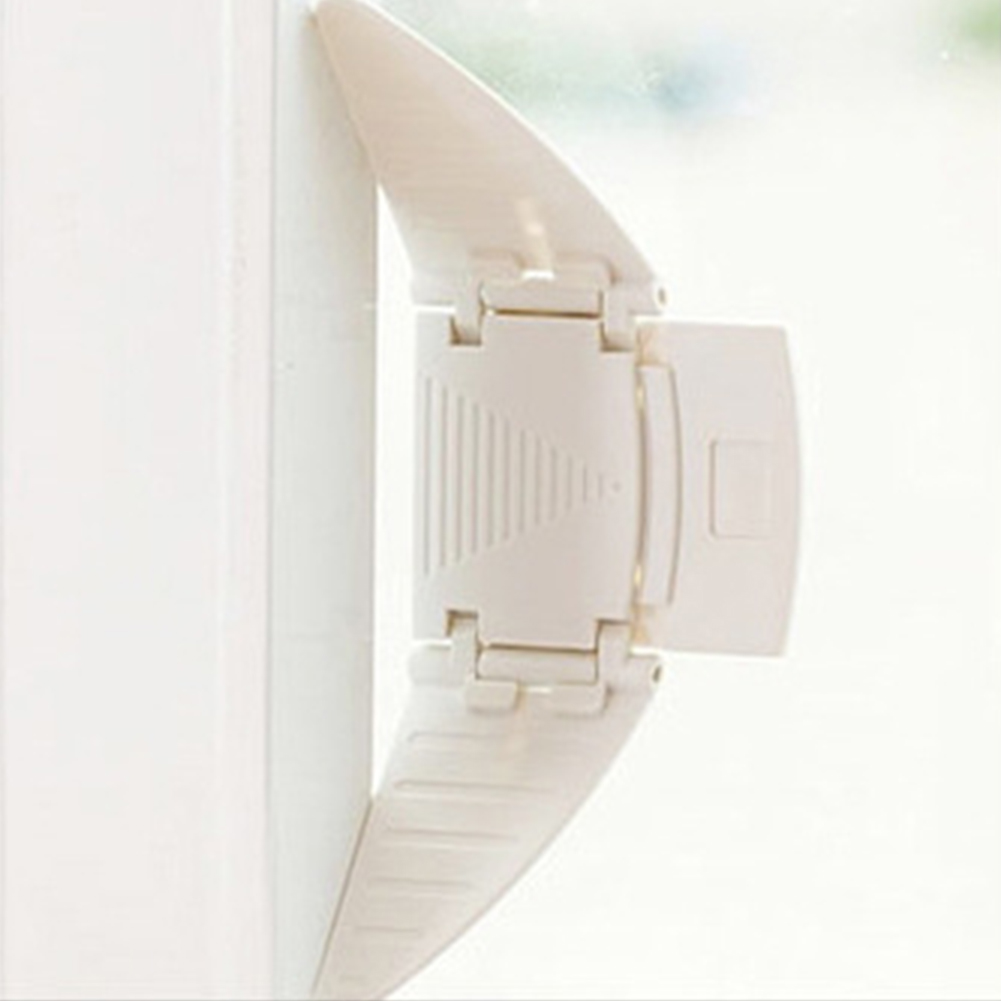 2pcs Home Office Cabinet Easy Install Bedroom Multifunction Child Window Protective Wing Shape Door Safety Lock