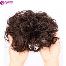 AIYEE bouclés vague toupet pour les femmes toupet systèmes de remplacement Remy cheveux vague pleine dentelle femmes toupet postiche 100% perruque de cheveux humains