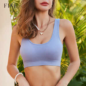 FINETOO Padded Tube Tops Sexy Crop Top Seamless Underwear U-Back Wrapped Chest Streetwear Female Fitness Tops Tank Lingerie 2020