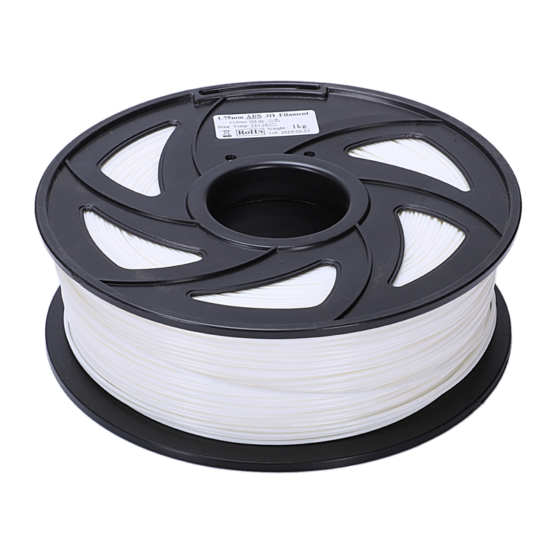 3D Printer 1KG Printing Filament 1.75mm PLA White,1 Roll
