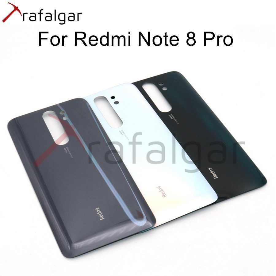 חדש חזרה זכוכית עבור Xiaomi Redmi הערה 8 פרו סוללה כיסוי 8T אחורי שיכון דלת פנל מקרה Redmi הערה 8 פרו חזרה סוללה כיסוי