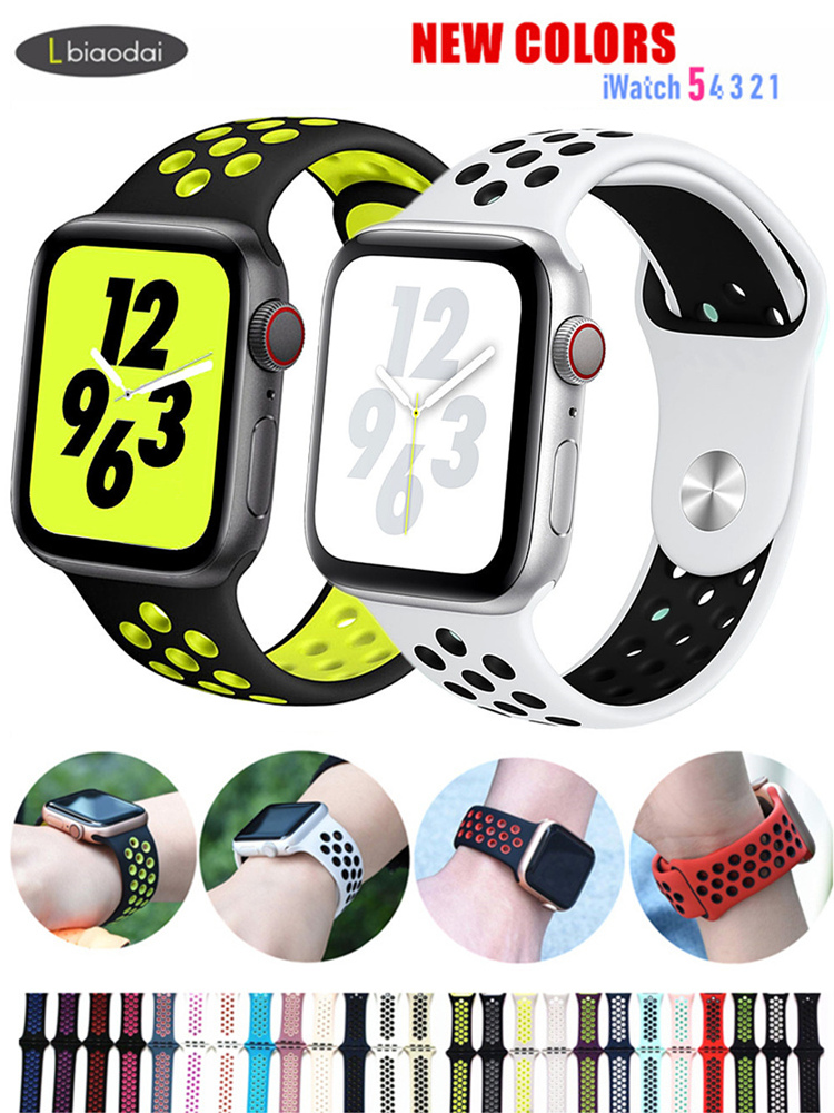 Watchband Silicone-Strap Sport-Bracelet Breathable for 44-Mm/40mm 42mm/38mm 3-2 5
