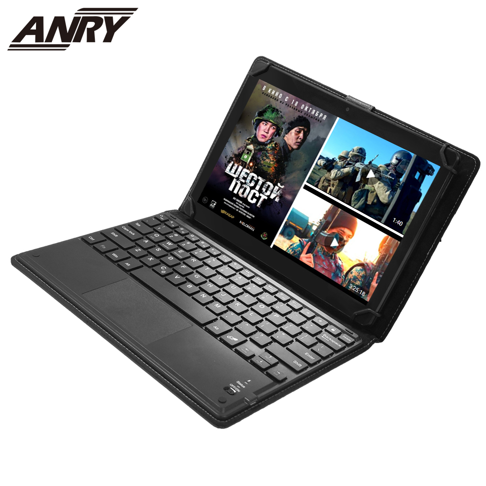 ANRY 10.1 Inch Android Tablet 4G LTE  Phone Call Dual SIM Tablet PC Android 8.1 WIFI Phablet AN80 Bluetooth Wireless Keyboard