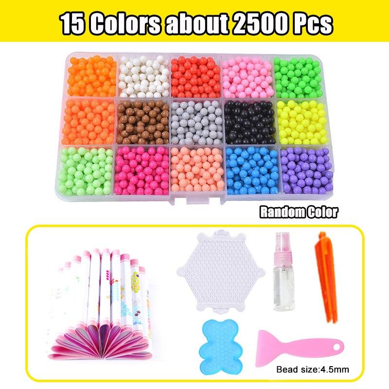 Refill Hama Beads Puzzle Aquabeads DIY Water Spray Beads Set Ball Games 3D Handmade Magic Toys For Girls Children 9