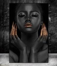 Черная модель красоты холст настенные картины художественные