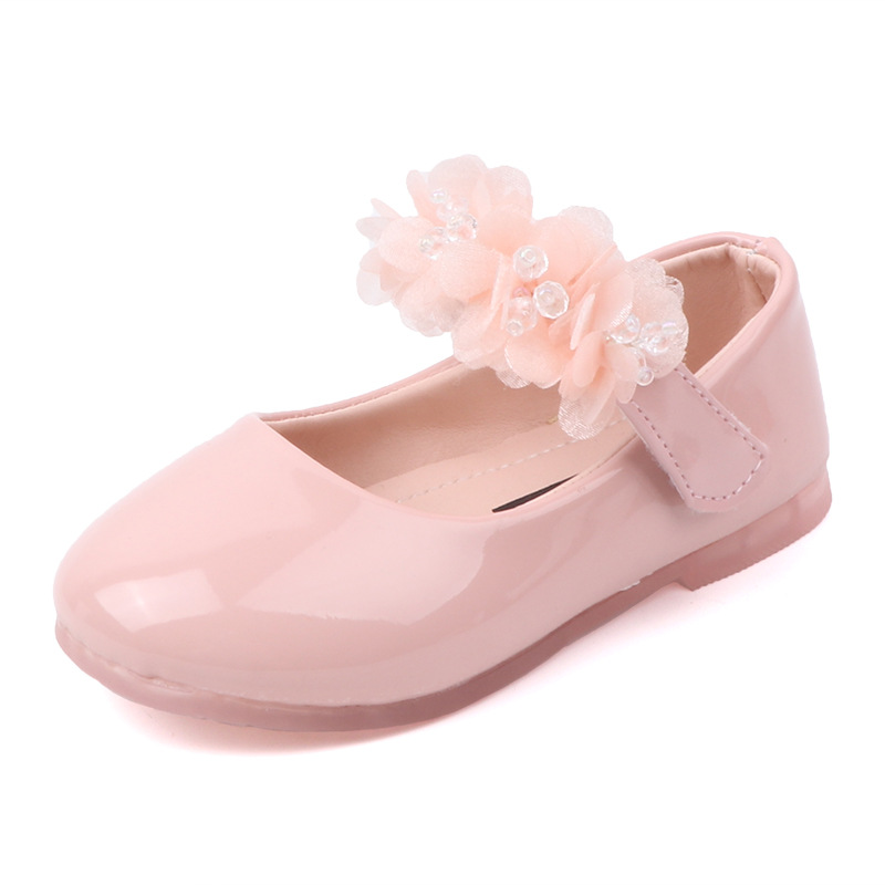 Lace Flowers Shoes For Girls Kids Pink
